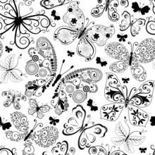 Monochrome Black Seamless Pattern