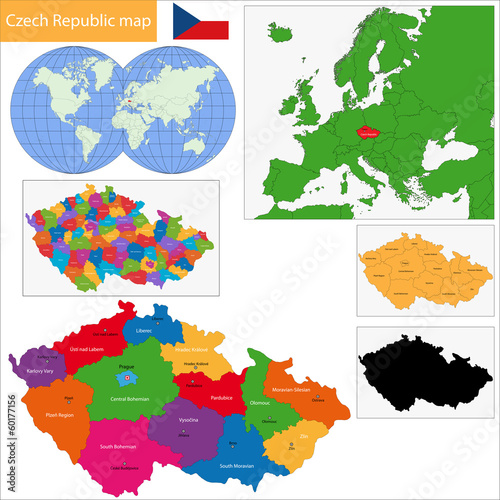 Czech Republic map Poster