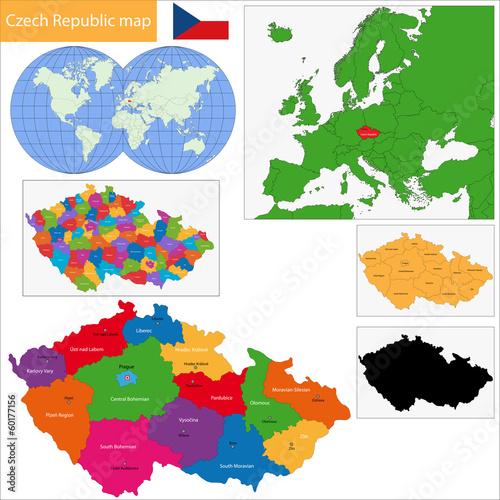 Czech Republic map Poster