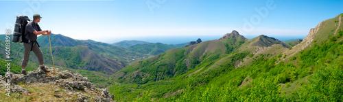 Hiker enjoys landscape #60188918