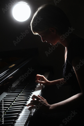 Fotomural Piano classical music musician player