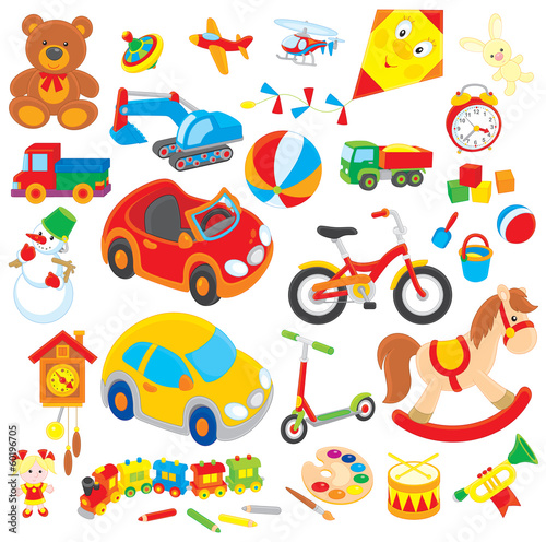 Fotografie, Obraz  colorful children's toys