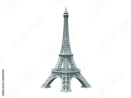 Fotografia  eifel tower isolated sideview