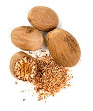 Nutmeg Isolated On White