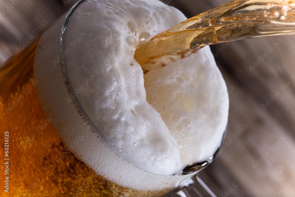 Fényképezés  Glass of beer, close-up