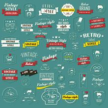 Set Of Vintage Retro Labels, S...