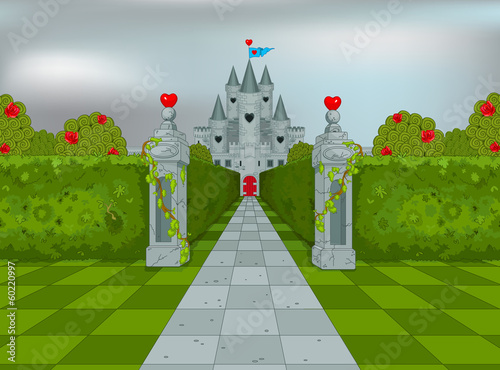 Printed kitchen splashbacks Fairytale World Palace of Queen of Hearts