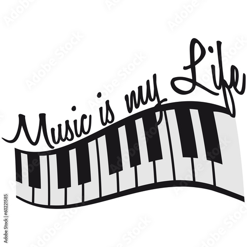 Music Is My Life Piano Keys Buy This Stock Illustration And Explore Similar Illustrations At Adobe Stock Adobe Stock