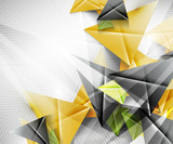 Geometric shape abstract triangle background