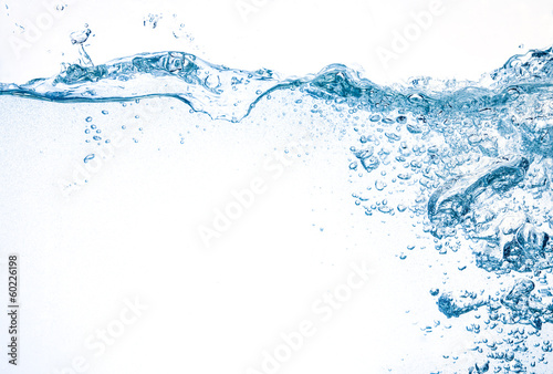 Printed kitchen splashbacks Water Water background. Splash with bubbles