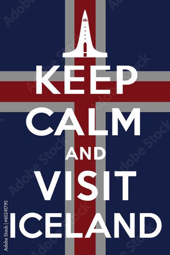 Visit Iceland Tapéta, Fotótapéta