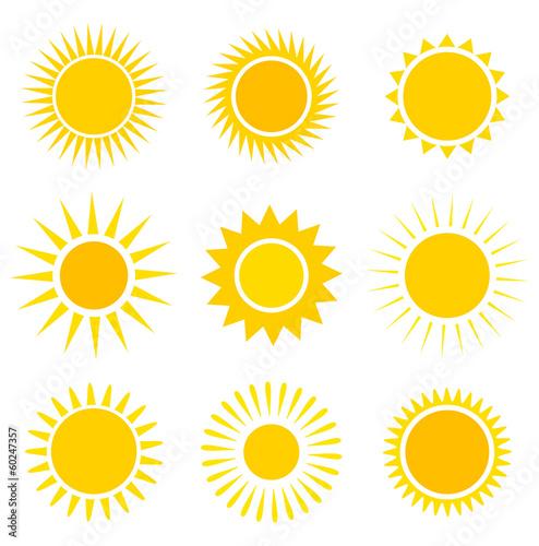Obraz Sun icons set - fototapety do salonu