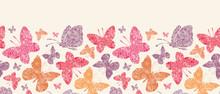 Vector Floral Butterflies Hori...