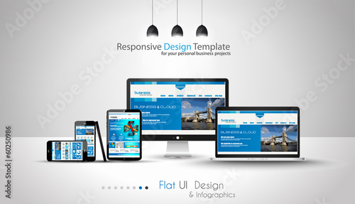 Modern devices mockups fpr your business projects. #60250986