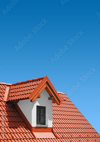 Fotografie, Obraz  ..roof with clay tiles
