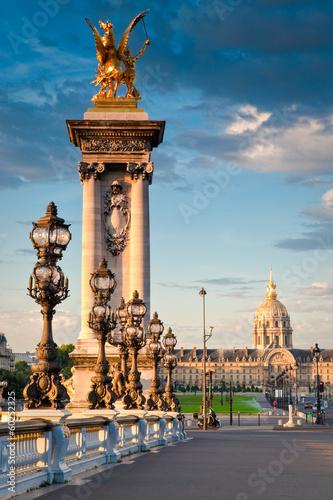 Pont Alexandre III & Hotel des Invalides, Paris Fototapete