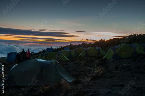 Foto op Canvas Khaki Sunrise Kikelelwa Camp Kilimanjaro