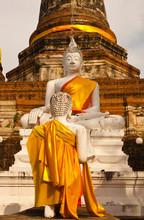 Bouddhas, Wat Yai Chai Mongkol...