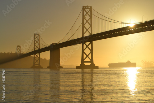 Bay Bridge at Sunrise, San Francisco, California