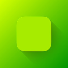Green Technology App Icon Blan...