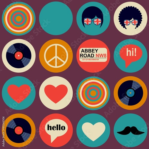 Poster  pop art british musical pattern