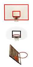 Basketball Hoops With Cage Isolated On White Background