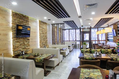 Fotobehang Restaurant Modern restaurant interior