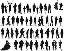 Set Menschen - Silhouette - Sc...