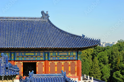 Foto op Aluminium Beijing the roof of the pagoda at the temple of heaven in Beijing, China