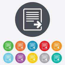 Export File Icon. File Documen...