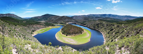 Poster Kaki Meander of the Alagon River Known as Melero meander