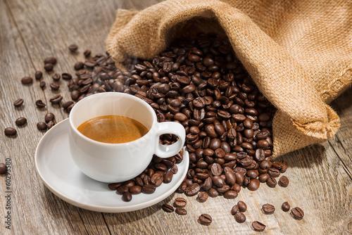 Foto op Plexiglas Koffiebonen Espresso