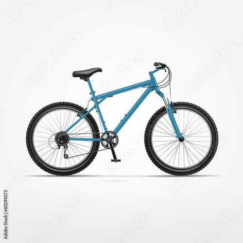 Staande foto Fiets Vector Realistic Isolated Bicycle