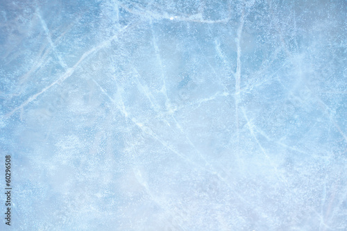 Poster Glisse hiver Ice blue