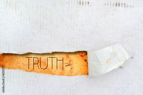 Truth title on old paper Canvas Print
