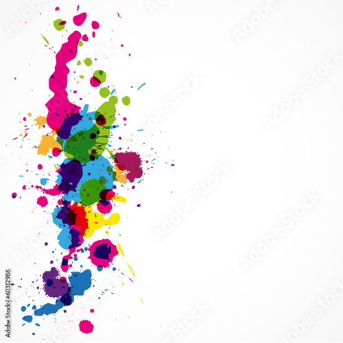 Foto op Canvas Vormen splash