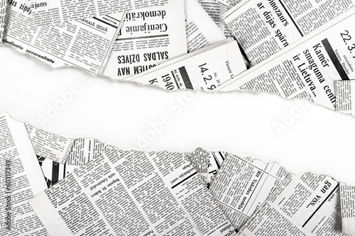 Printed kitchen splashbacks Newspapers old ripped newspapers