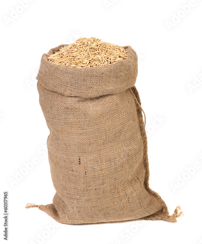 Stampa su Tela Wheat grains in the bag.