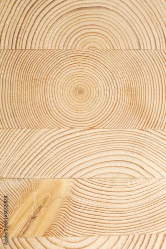 Obraz na plátne  Superfice di legno con cerchi concentrici
