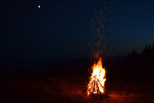 Background Of A Night Fire