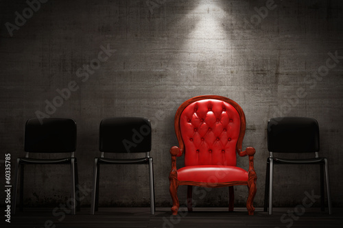 Fotografie, Obraz  The red armchair