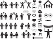 Set of people pictogram and icons for Valentine Day