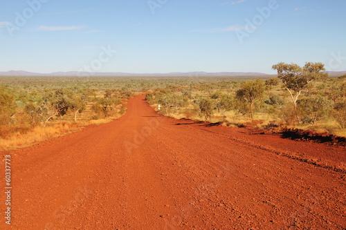Foto op Canvas Baksteen The track in Karijini National Park, Western Australia