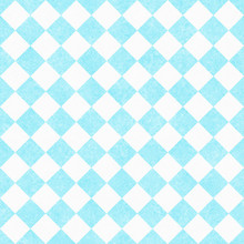 Pale Teal And White Diagonal Checkers On Textured Fabric Backgro