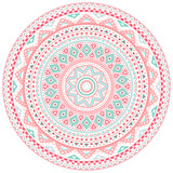 Decorative pink and blue round pattern frame