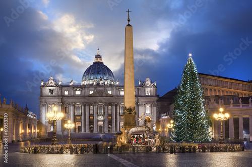 Photo Stands Rome Basilique Saint-pierre de Rome à Noël