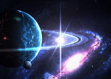 Fototapeta Space - Space background