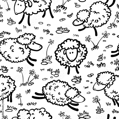 seamless with sheeps