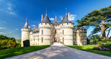 Chateau De Chaumont-sur-Loire, France. Medieval Castle In Loire Valley In Summer.