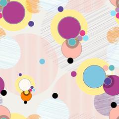 Panel Szklany Abstrakcja seamless pattern background, halftone, retro/vintage style, with